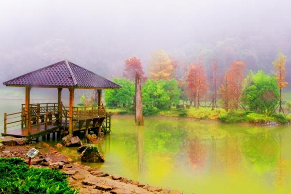 19明池楓紅意境幽邃之美