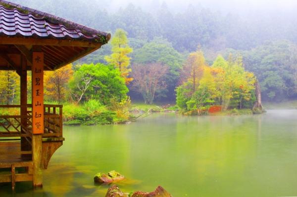 17明池楓紅意境幽邃之美
