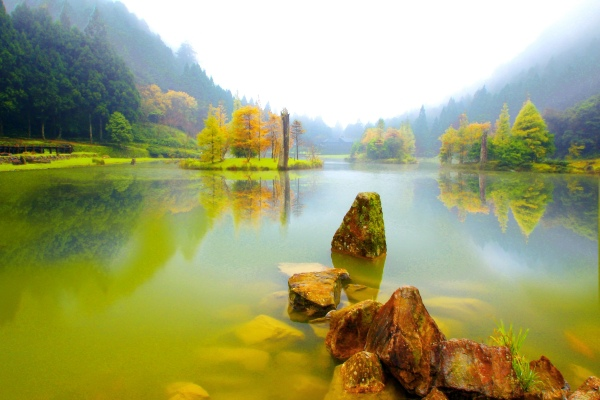 15明池楓紅意境幽邃之美  二