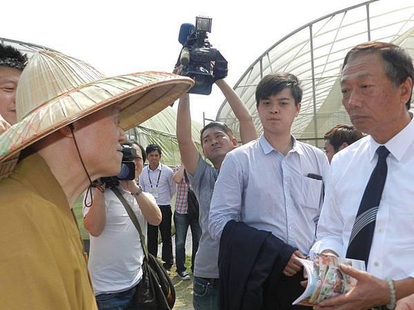 開山和尚參訪永齡有機農業園,巧遇農場主人郭台銘先生的因緣際會
