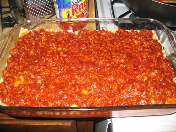 Lasagna Meat Sauce Layer