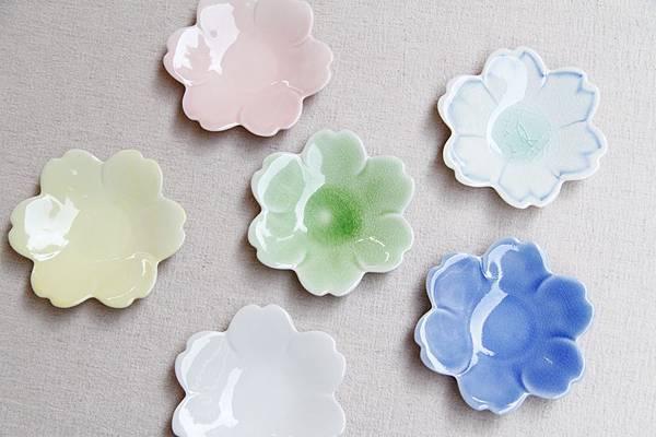 栗原櫻花形皿組合圖
