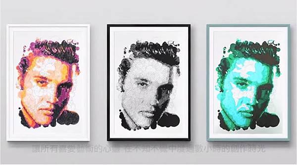 《著色圈圈畫:名人肖像》5個數字畫出令人驚嘆大師傑作_001