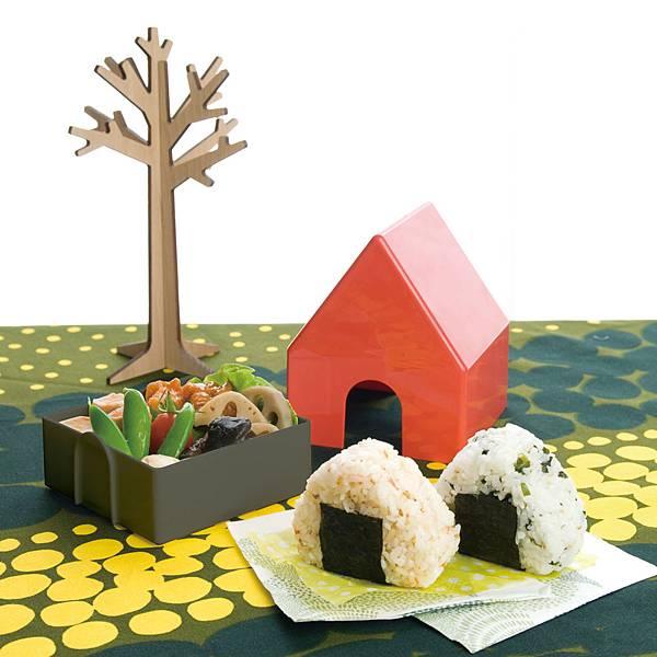 小房子系列飯團餐盒-情境