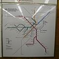 Boston地鐵圖,這的地鐵很新,跟紐約完全不同,新到整個車廂有一點點木頭跟塑膠味道