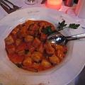 麵團型的干貝義大利麵