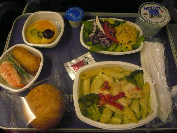 AA美國航空America Airline往紐約的晚餐