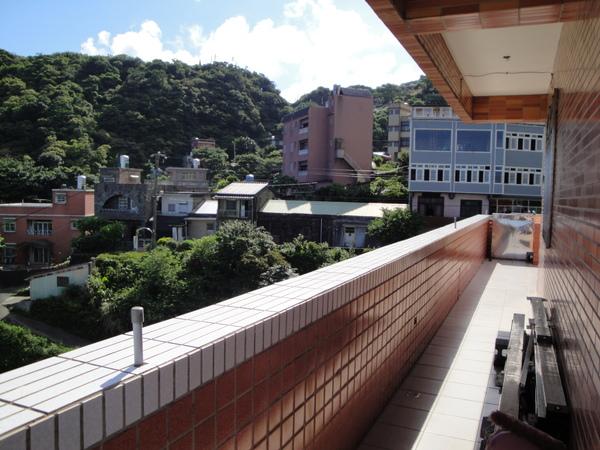 九份民宿悠然居的陽台