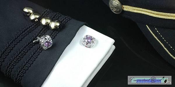 王者歸來榮耀紫鋯石袖扣