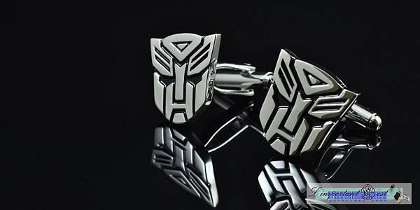 變形金剛Transformers博派亮面銀色袖扣