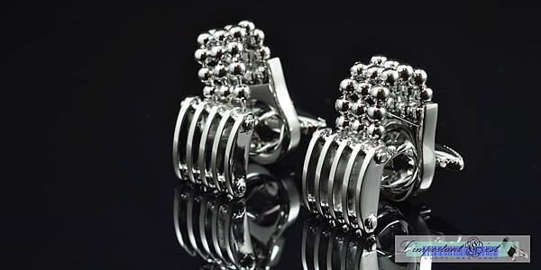 結構工程銀鏈袖扣