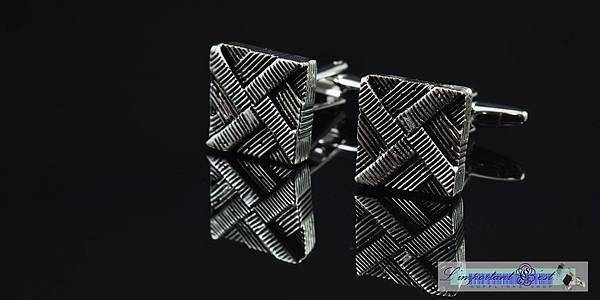 外星金屬方塊造型袖扣
