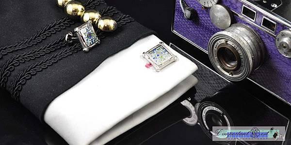 水漾皇室浮雕袖扣