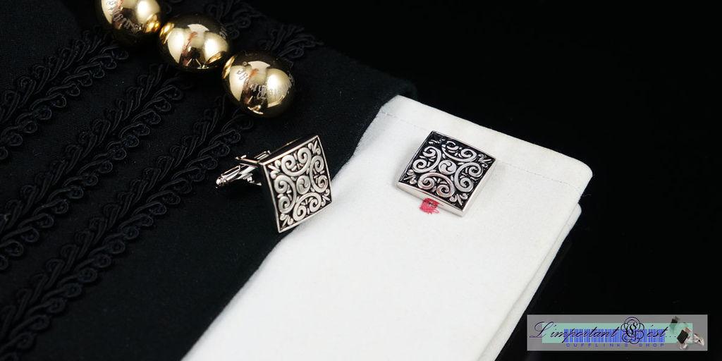 東土秘境方型袖扣