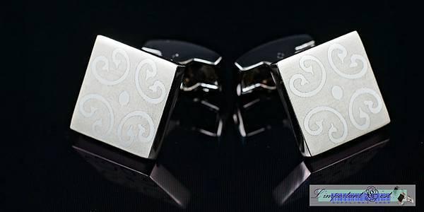 密室花紋方形袖扣