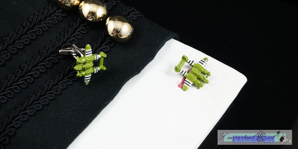 二戰戰機造型袖扣