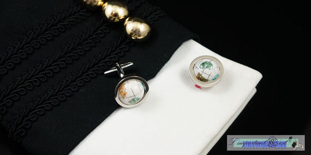 地球儀造型袖扣
