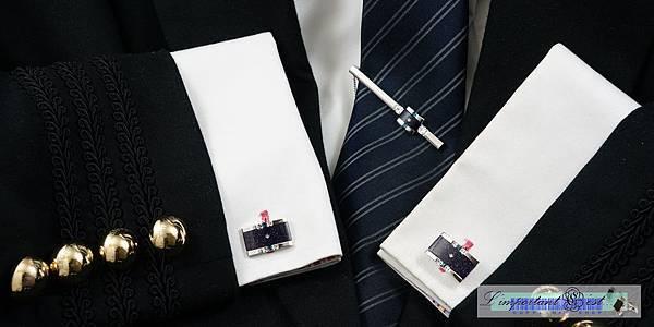 Ugo Conti 金沙石袖扣領帶夾套組