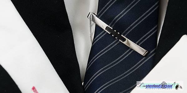 Ugo Conti 亮面飾黑瑪瑙領帶夾