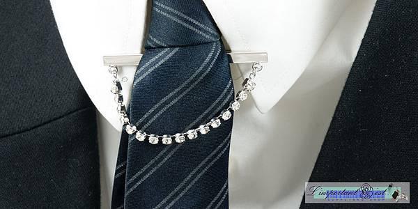 水鑽鍊領飾夾