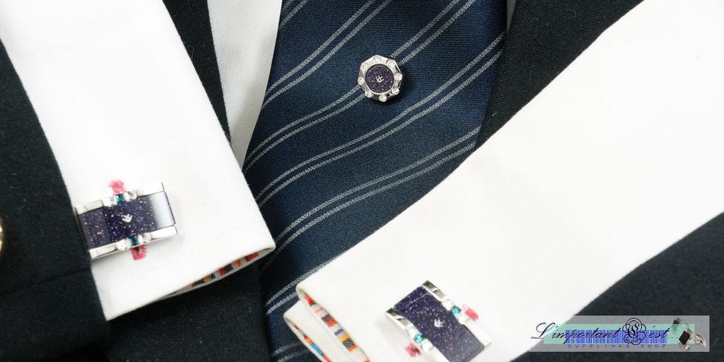 Ugo Conti 金沙石領帶針