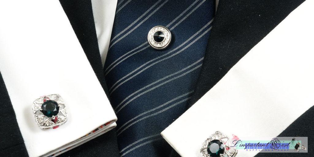 Ugo Conti 藍鑽領帶針