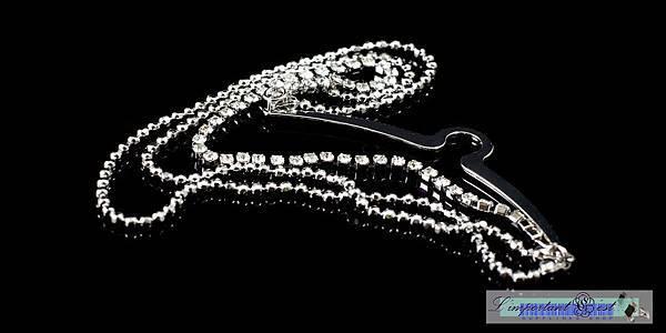 水鑽銀鍊領帶飾鍊