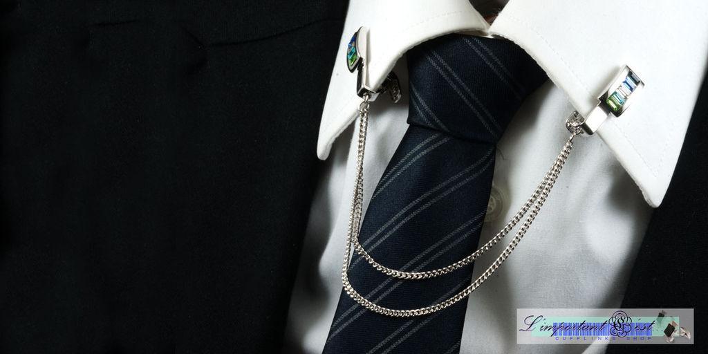 時尚多彩水鑽領飾夾