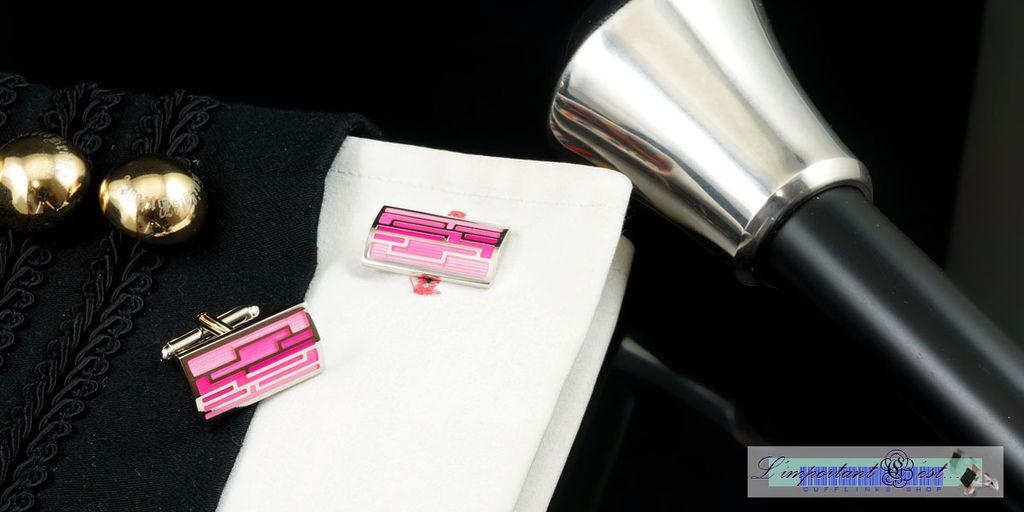 時尚空間粉色袖扣