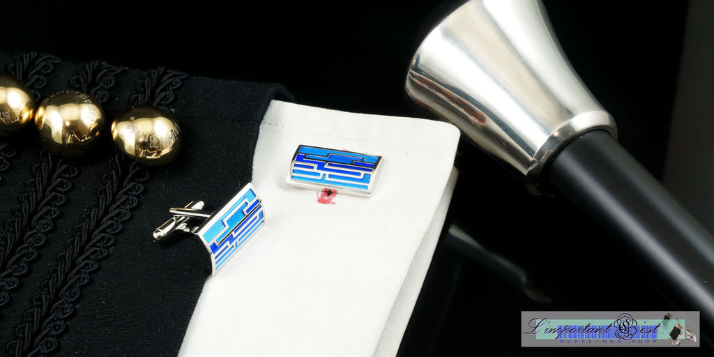 時尚空間藍色袖扣
