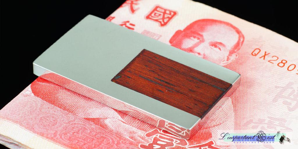 紅木方塊鑲嵌鈔票夾