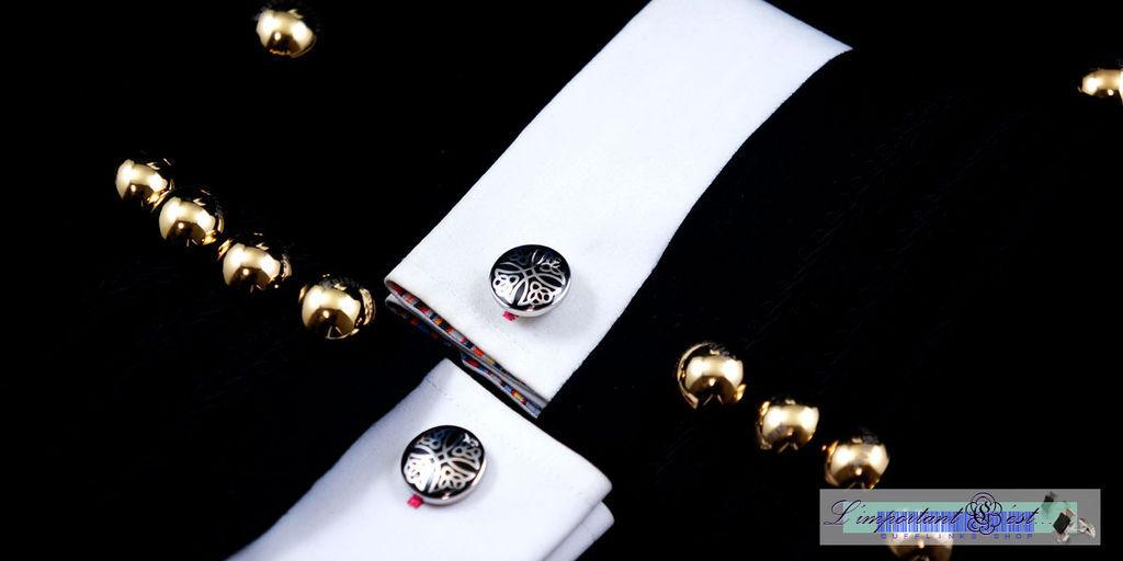 三一十字黑色袖扣