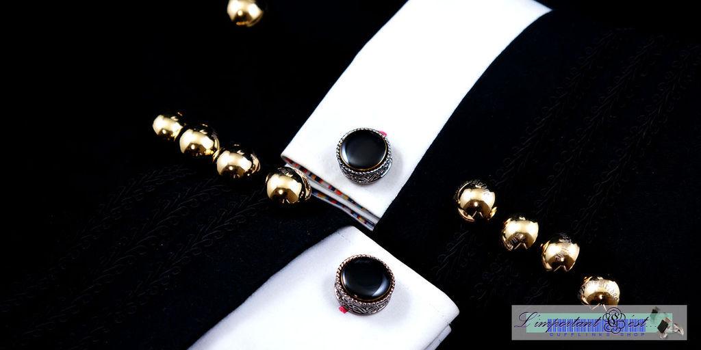 強殖黑瑪瑙袖扣