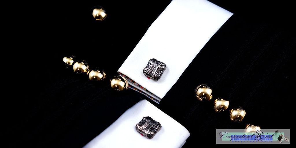 錦十字袖扣
