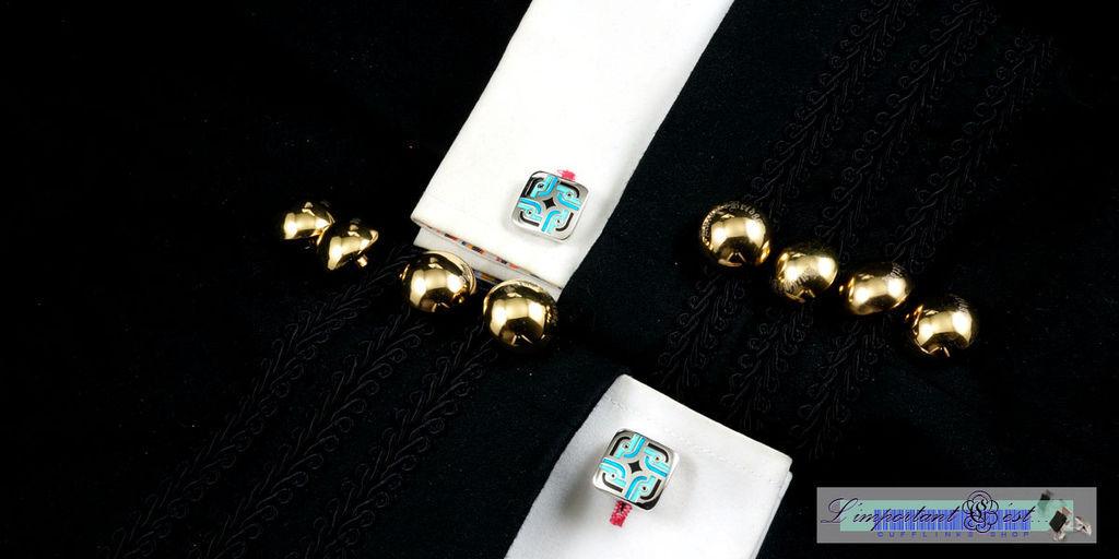 藍色莊園袖扣