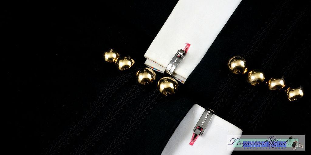 黑鋼D型扣袖扣