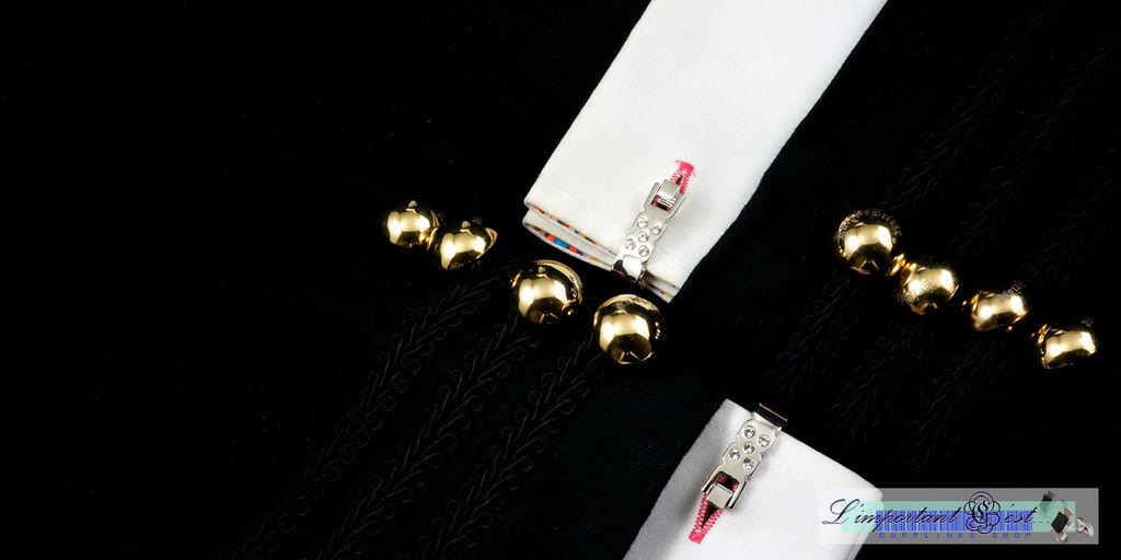 碎鑽D型扣袖扣