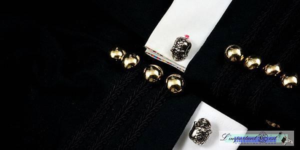 骷顱造型袖扣