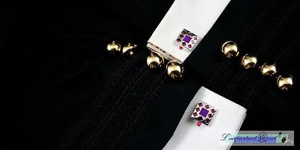 紫艷彩鑽袖扣