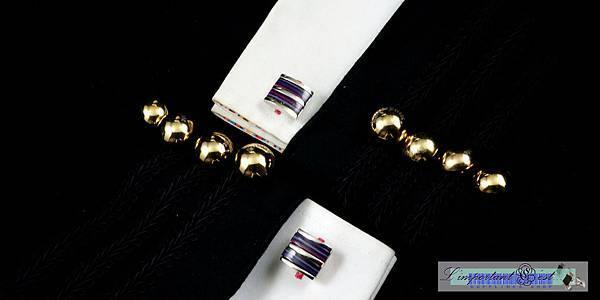 幻彩炫紫袖扣