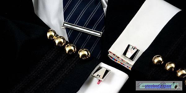 紳士珍珠貝袖扣