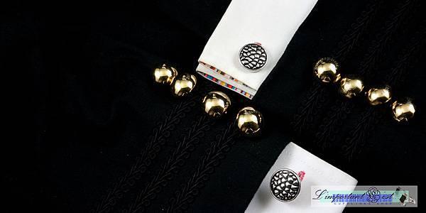 龍鱗圓盾袖扣