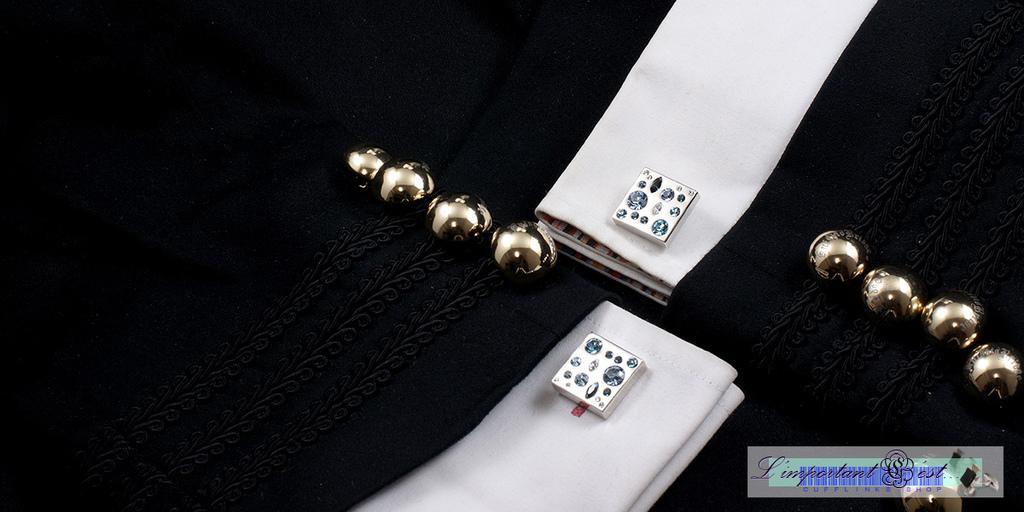 藍耀彩鑽袖扣