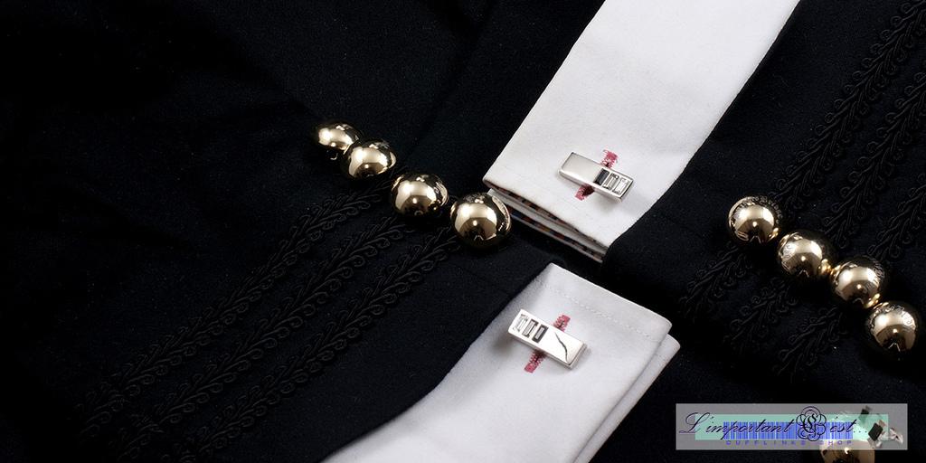 朗愛系列水晶袖扣