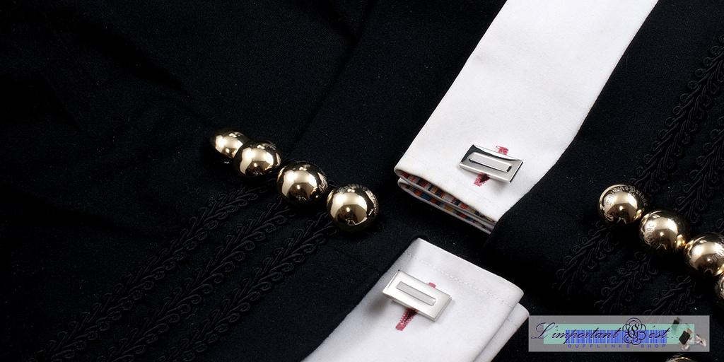 白色琺瑯袖扣