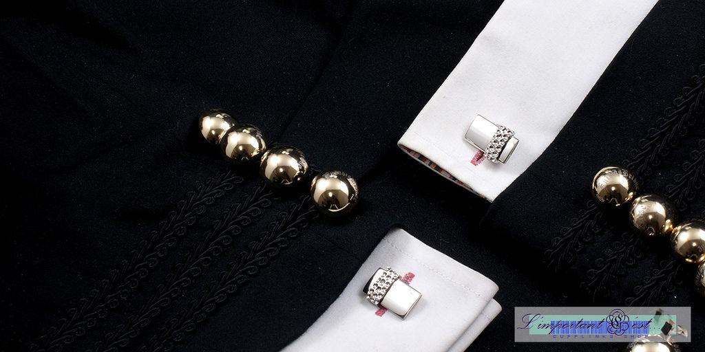 隕面銀色袖扣