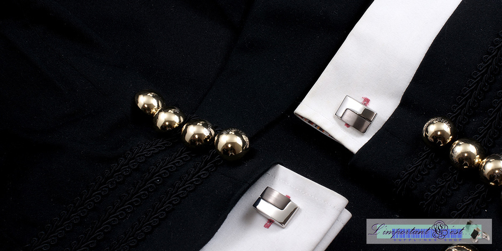 簡約雙色袖扣