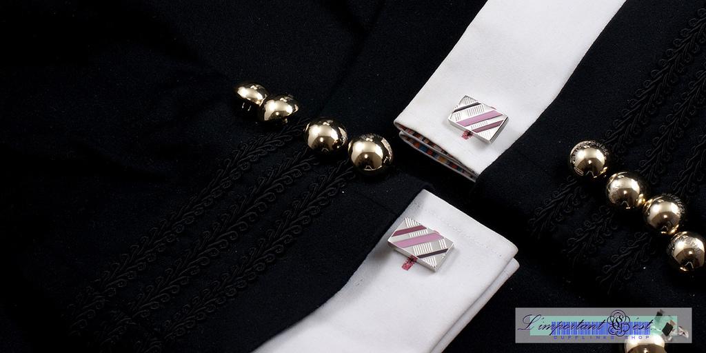 彩霞琺瑯袖扣