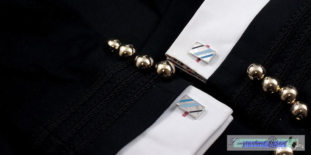 天光琺瑯袖扣