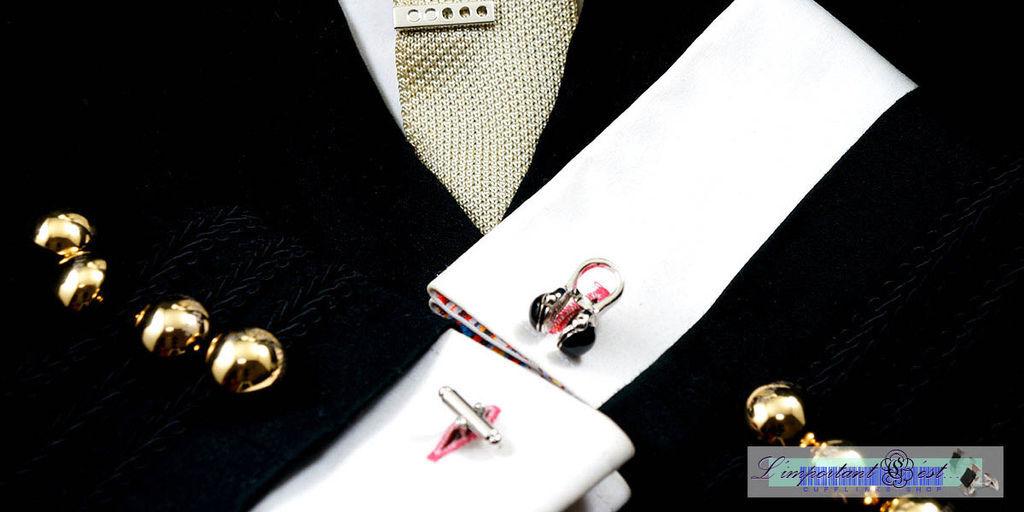 DJ耳機造型袖扣